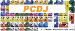 PCDJ Keyboard Stickers for Computers Laptops Keyboards