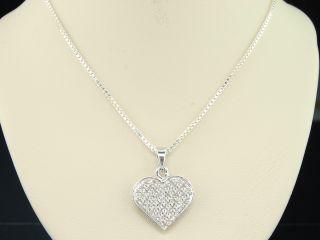 Gold Finish Diamond Love Heart Shape Pendant Charm for Necklace