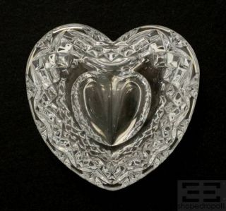 Waterford Crystal Heart Shaped Trinket Box