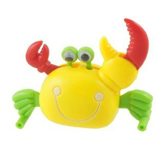 Como Plastic Yellow Body Crab Wind Up Clockwork Spring Toy