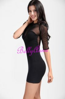 Hot Sexy Lace Open Back Punk Fringed Badges Cotton Cocktail Clubwear