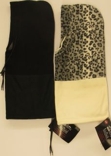 Hot Headz Animal Print Six in One Convertible Scarf Hood Face Mask