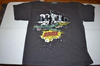 York City Bomber Plane T Shirt XL Nice Urban Hip Hop Pop Art