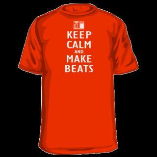 Keep Calm and Make Beats T Shirt MPC SP 1200 404 Pete R