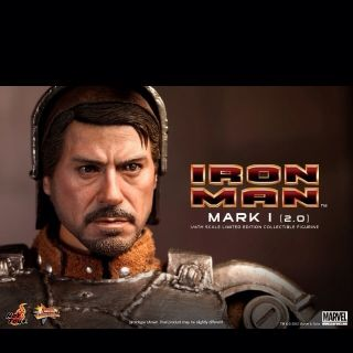 HOT TOYS IRONMAN MARK I ONE VERSION 2 0 2 TWO TONY STARK LED 1 6