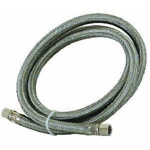 HiCo 2728 60 Stainless Steel Braided Refrigerator Water Line Hose 1 4