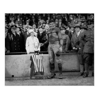 Mrs. Coolidge & Lieutenant McQuade, Marine Corps   Fort Benning game