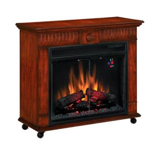 Electric Fireplaces Roll Around Room Heater Vent Free Mantle