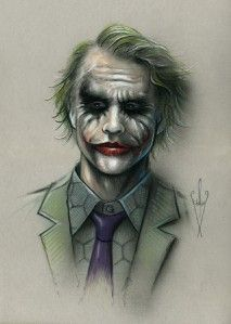 drawing 12 x 18 heath ledger the dark knight description