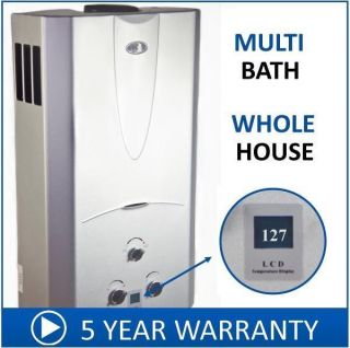 Natural Gas Tankless Hot Water Heater 4 3 GPM Whole House Digital Temp