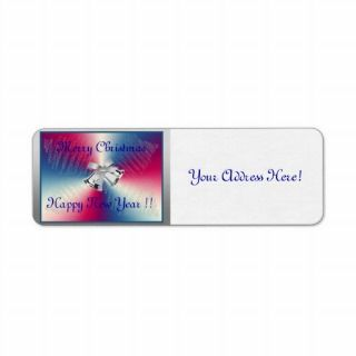 Merry Christmas Happy New Year Address Labels