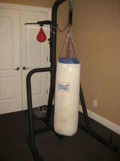 Station Punching Bag Stand with Heavy and Speed Bag