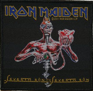 Iron Maiden Seventh Son Heavy Metal Music Woven Patch