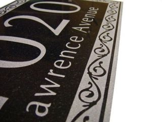 GRANITE Carved Large House Number Name Address Sign Custom Marker