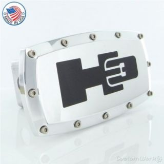 Hummer H3 Logo Chrome Billet Tow Hitch Plug Cover New
