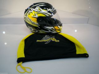 HJC IS 16 Helmet Scratch Motorcycle Helmet Black Yellow DOT Approved