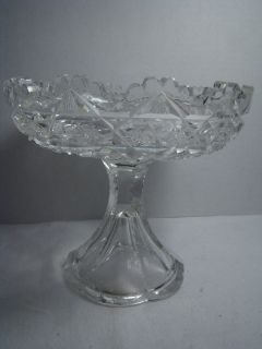 Auth Antique Signed J Hoare Co Corning 1853 Cut Glass Crystal abp