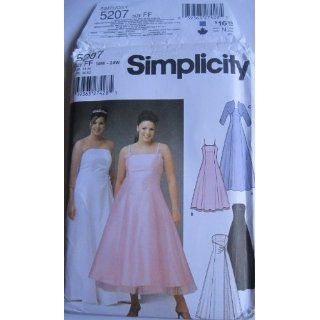 SIMPLICITY PATTERN 5207 WOMENS PETITE EVENING DRESS IN