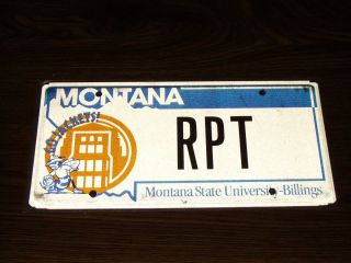 Montana State University Univ Billings License Plate Car Tag