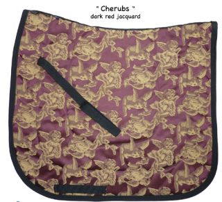 Red Cherub Angel Dressage Saddle Pad Show Freestyle Baroque