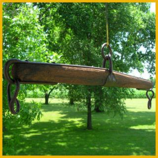Antique Harness Horse Single Tree Wrought Iron Old Wood