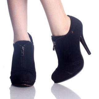Booties Platform Stiletto High Heels Zipper Womens Shoes Size 8