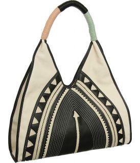 and Black Oversized Large Big Tribal Hobo Designer Melie Bianco