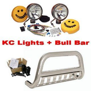 Brand New 3 Stainless Steel Bull Bar Bumper Brush Guard with Skid