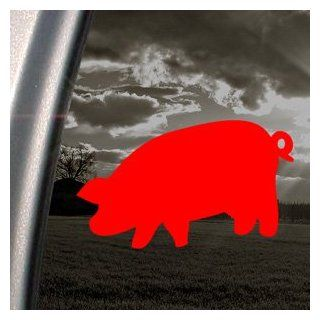 Pink Floyd Red Decal Pig Car Truck Bumper Window Red