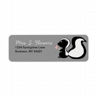 Cute Baby Animals Skunk Return Address Labels