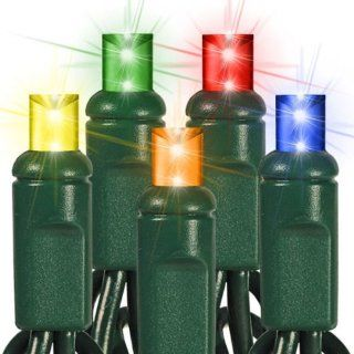 (50) Bulbs   LED   Multi Color Wide Angle Mini Christmas