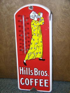 Hills Brothers Coffee Porcelain Ad Thermometer 523 P