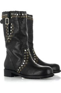 Jimmy Choo York leather motorcycle boots   65% Off