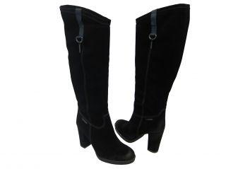 Diesel Womens Boss Hogg Black Casual Dress Fashion Boots Heels Shoes 8