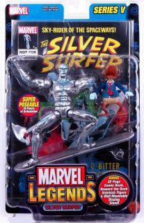 Silver Surfer w Howard The Duck Marvel Legends Series V