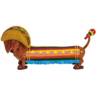 Hot Diggity Mexican Taco Doxie Dog Dachshund Figurine New Figure 17957