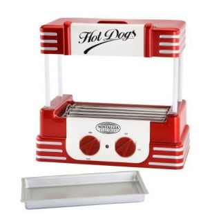 Nostalgia RHD 800 Retro Hot Dog Cooker Maker Roller New