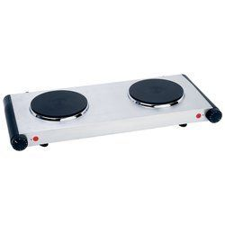 Double Cast Iron Burner Warmer Hot Plate Electric Cooker Stove Top