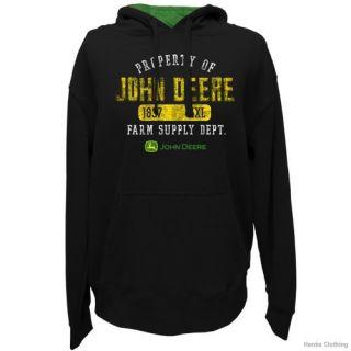 John Deere Mens Property Of JD Fleece PO Hoodie  Black
