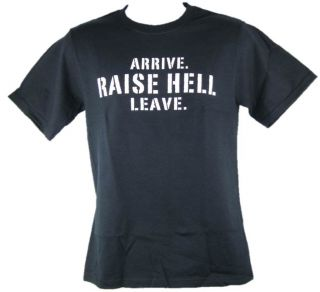 Stone Cold Steve Austin Arrive Raise Hell Leave Black T shirt