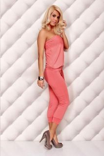 Hot Sexy Pink Jumpsuit Overalls Pants Romper Clubwear GoGo Dance