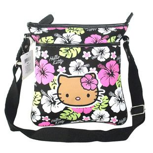 Sanrio Flower Hello Kitty Sequined Shoulder Bag Messenger Bag Kid s