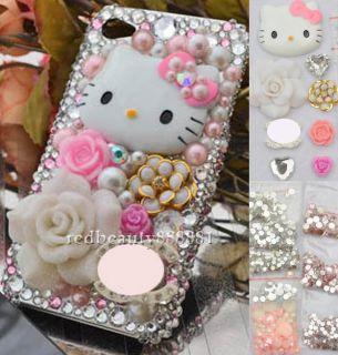 Pink Hello Kitty Rose DIY Bling Mobile Phone iPhone Case Deco Den Kit