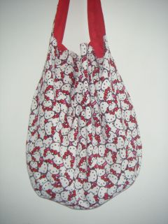 Hello Kitty Faces Handmade Hobo Bag