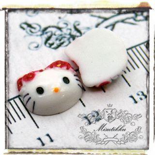 PCS X 13mm Small Hello Kitty Cabochon Flat Back Scrapbooking Nail