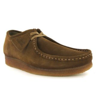 Clarks Wallabee Cola Brown Suede Mens Shoes: Shoes