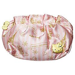 Cosmetic Makeup Purse Mon Amour with Little Hello Kitty Charms
