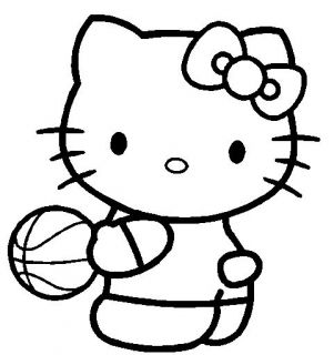 Hello Kitty Basketball Truck Car Laptop Girl Decal Vinyl Sticker