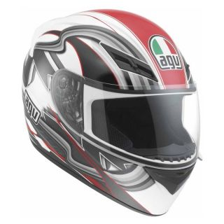 item title agv k3 chicane helmet med white red msrp $ 199 95 condition
