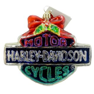 Holiday Bar Shield 01HAR05 Ornament Harley Davidson Cycles New